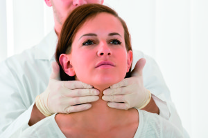 Woman Getting Thyroid Gland Control